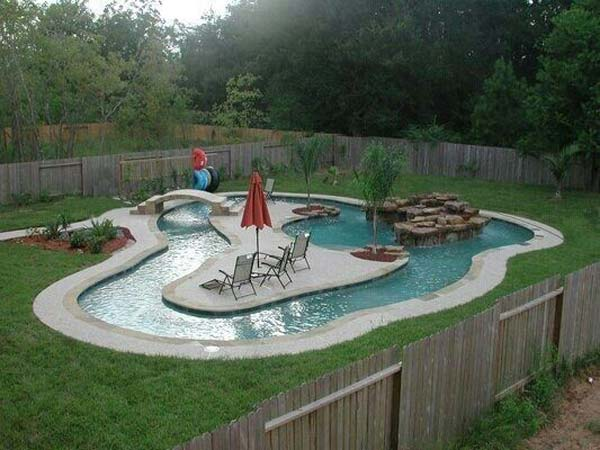 Top 32 diy fun landscaping ideas for your dream backyard for Back garden swimming pool