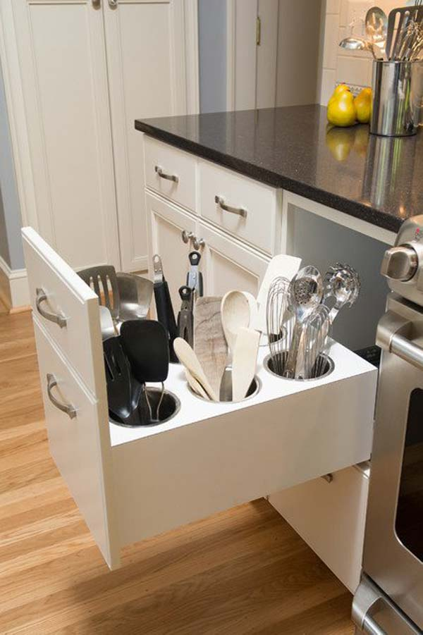 top 27 clever and cute diy cutlery storage solutions - amazing diy Cute Storage Solutions