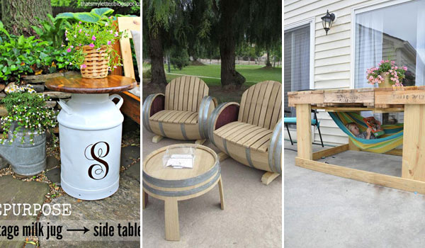 Backyard Furniture Ideas : 37 Ingenious DIY Backyard Furniture Ideas Everyone Can Make