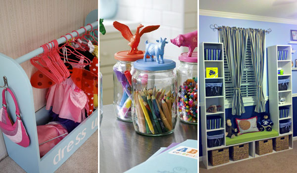 28 genius ideas and hacks to organize your childs room for Organized kids rooms
