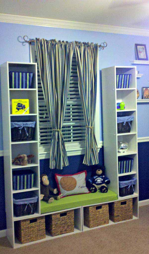 28 genius ideas and hacks to organize your childs room for Kids room storage ideas