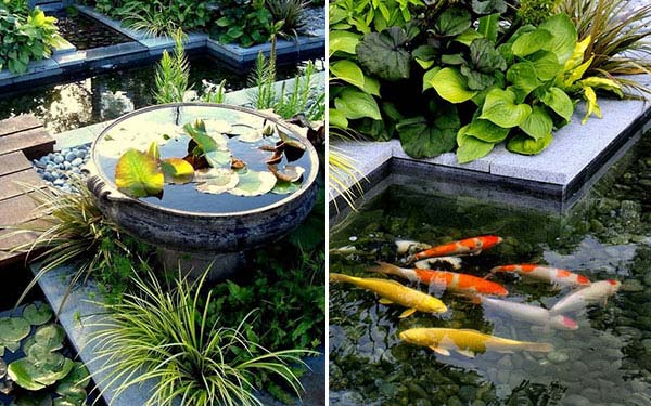 22 small garden or backyard aquarium ideas will blow your for Outdoor koi pond