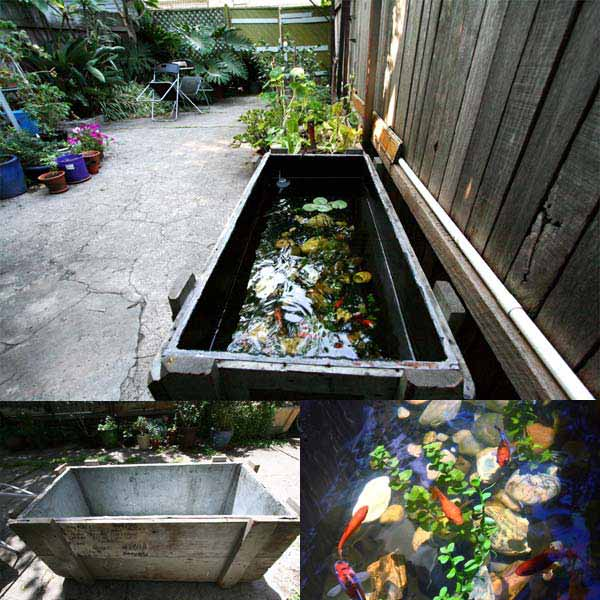 22 small garden or backyard aquarium ideas will blow your for Outdoor fish ponds for sale