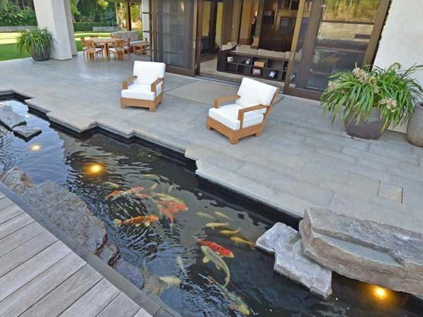22 small garden or backyard aquarium ideas will blow your for Backyard koi pond ideas