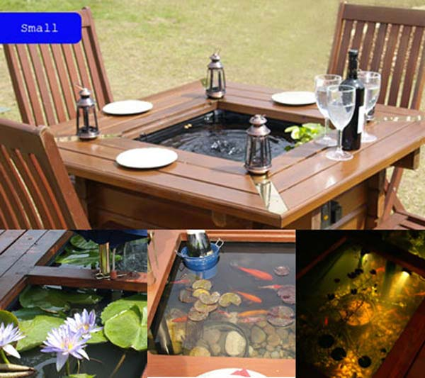 22 small garden or backyard aquarium ideas will blow your ForGarden Table Fish Pond