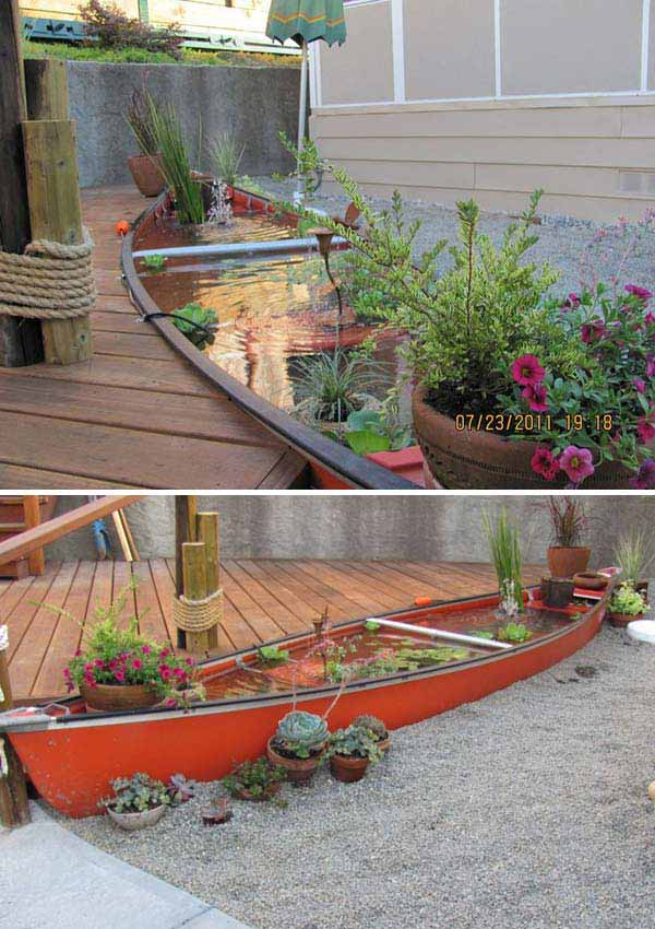 22 small garden or backyard aquarium ideas will blow your for Diy garden pond ideas