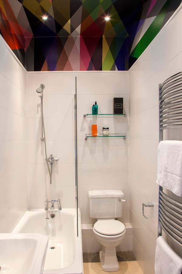 22 changes to make small bathrooms look bigger amazing for Tiny bathroom plans