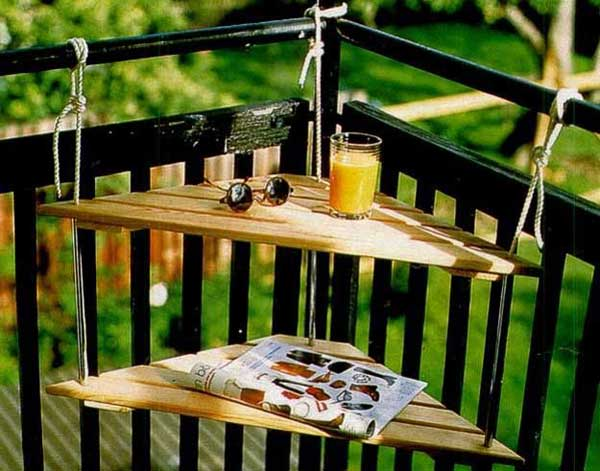 27 diy reclaimed wood projects for your homes outdoor amazing diy interior - Table pour petit balcon ...