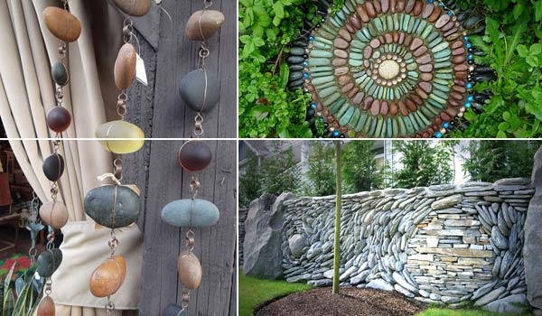 Garden Art Ideas garden art ideas cactus rocks 21 Lovely Diy Ideas To Spice Up Garden With Pebbles Art