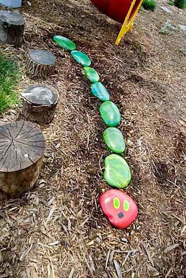 21 Lovely DIY Ideas To Spice Up Garden with Pebbles Art ... on Pebble Yard Ideas id=69259