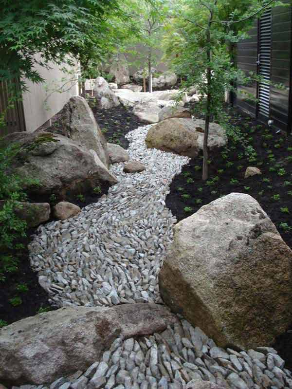 21 Lovely DIY Ideas To Spice Up Garden with Pebbles Art ... on Backyard Pebble Ideas id=89776