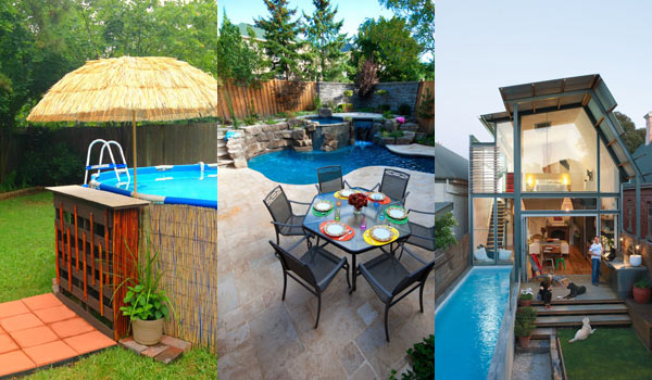 28 Fabulous Small Backyard Designs With Swimming Pool - Amazing