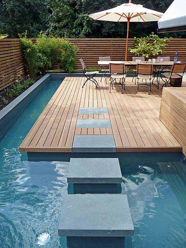 Small-Backyard-Pool-Woohome-13 - 28 Fabulous Small Backyard Designs With Swimming Pool - Amazing DIY