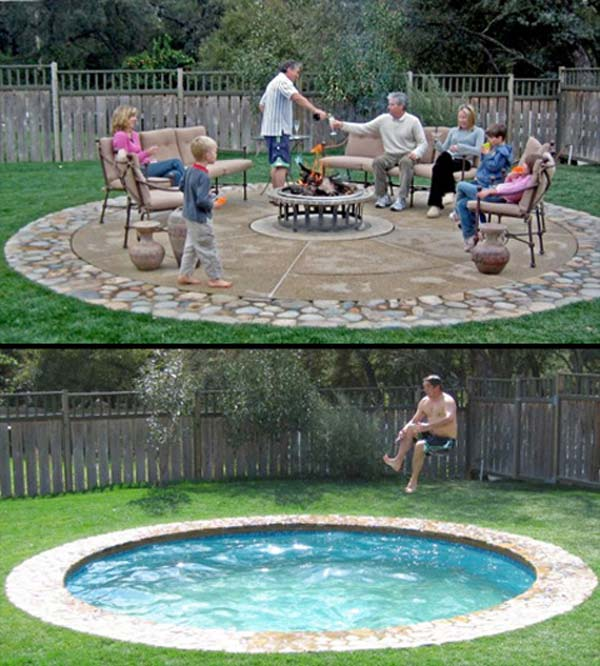 28 fabulous small backyard designs with swimming pool for Backyard swimming pool designs
