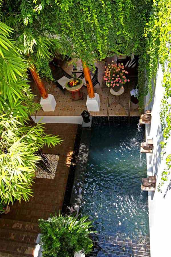 28 Fabulous Small Backyard Designs with Swimming Pool - Amazing ...