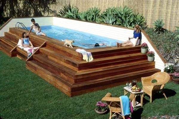 Backyard Designs With Pool backyard landscaping ideas alluring backyard design with backyard designs with pool Small Backyard Pool Woohome 7