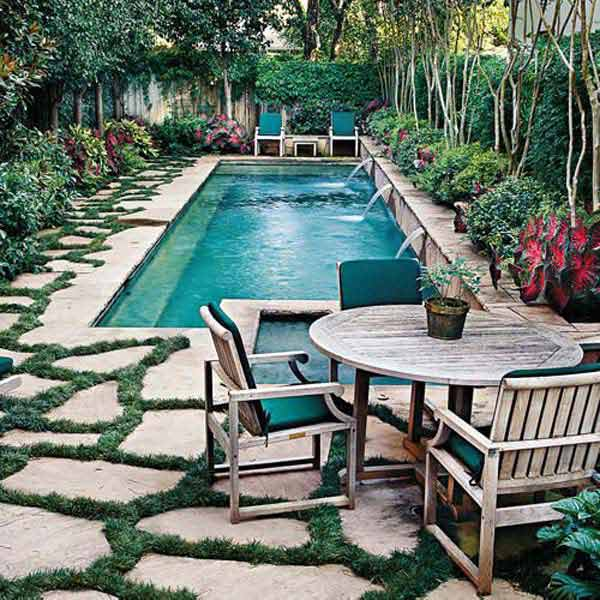 28 fabulous small backyard designs with swimming pool for Pool and backyard design