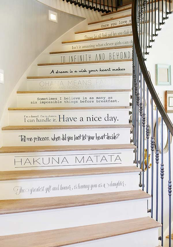 Stair Risers Decor Woohome 10