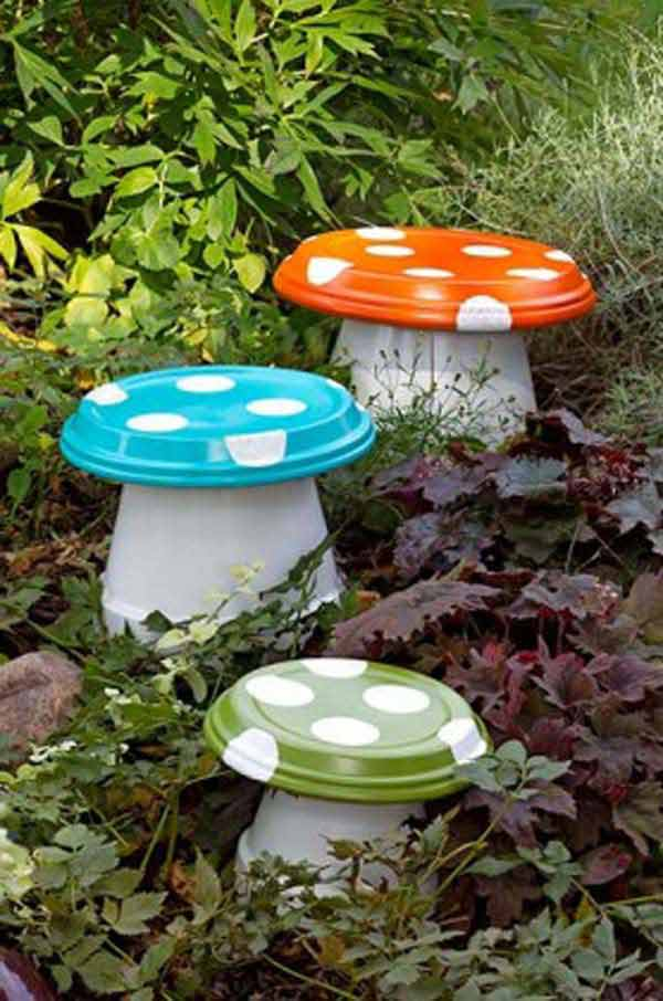 clay-pot-garden-projects-woohome-2 & 26 Budget-Friendly and Fun Garden Projects Made with Clay Pots ...
