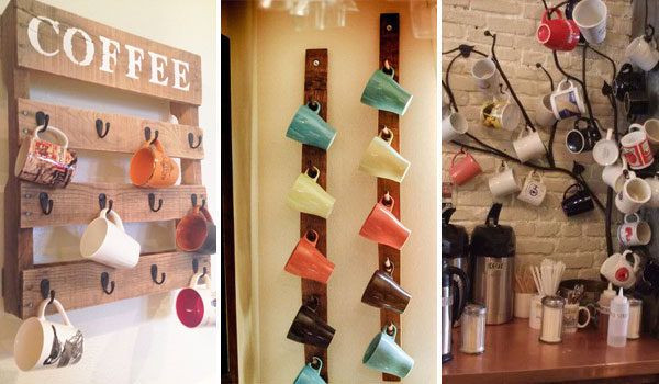 30 fun and practical diy coffee mugs storage ideas for