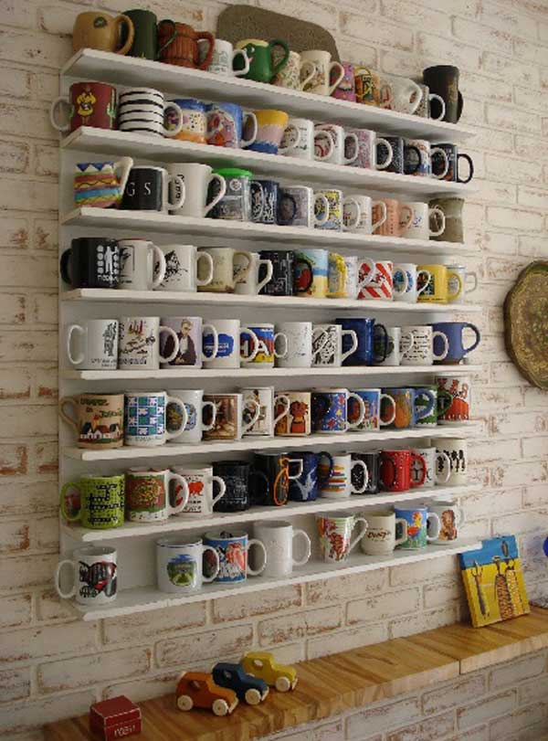30 Fun and Practical DIY Coffee Mugs Storage Ideas for Your Home ...