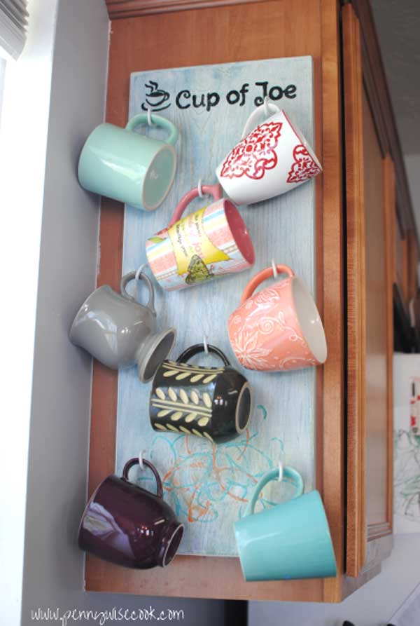 30 Fun And Practical Diy Coffee Mugs Storage Ideas For Your Home Amazing Interior Design