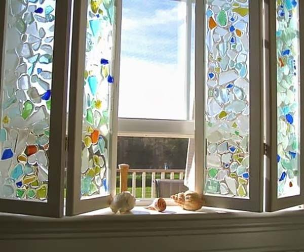 Cute Diy Home Decor Ideas With Colored Glass And Sea Glass