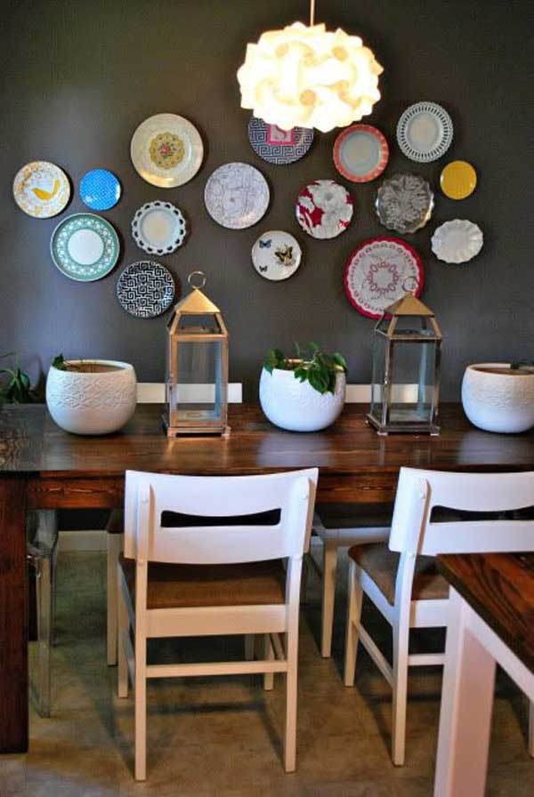 24 must see decor ideas to make your kitchen wall looks for Decorating a large dining room wall