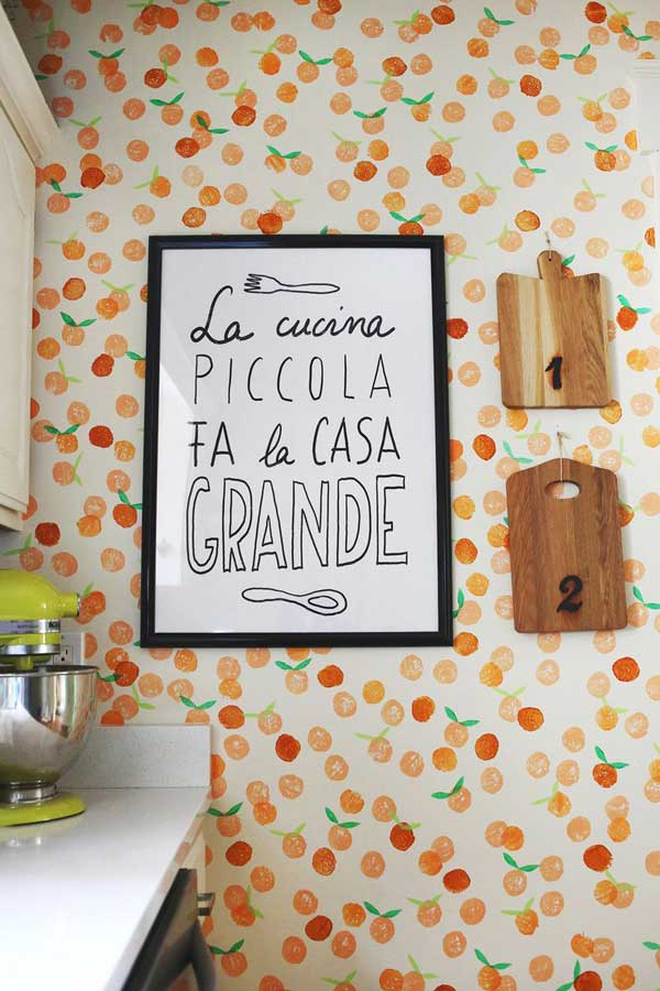 24 must see decor ideas to make your kitchen wall looks for Kitchen wall art ideas