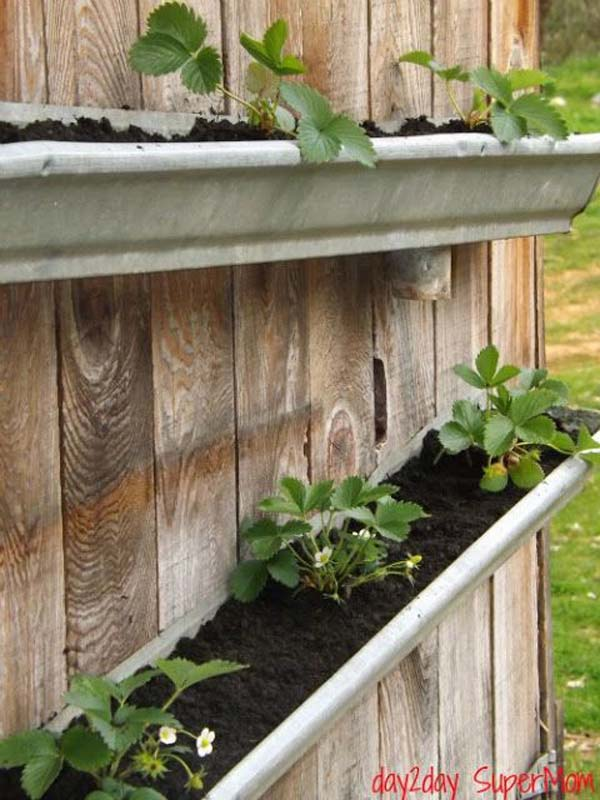 23 Inspirational Diy Ways To Repurpose Rain Gutters