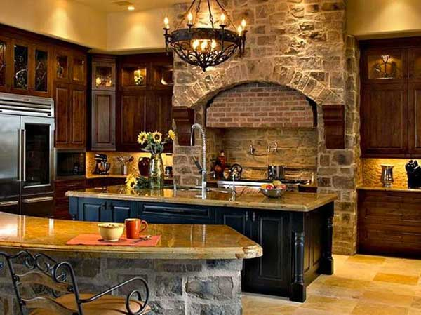 22 Stunning Stone Kitchen Ideas Bring Natural Feel Into ... on Rustic:fkvt0Ptafus= Farmhouse Kitchen Ideas  id=99840
