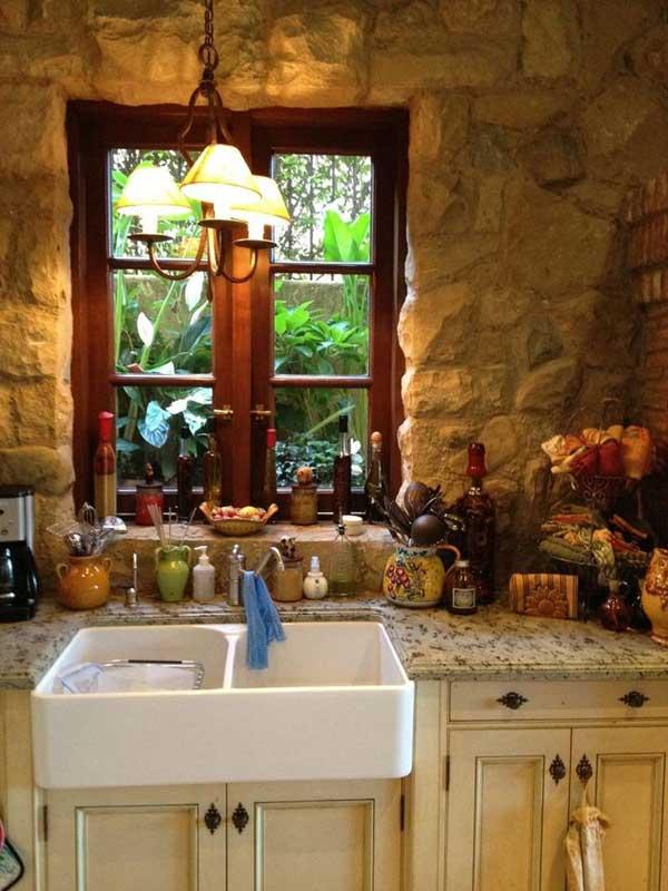 22 Stunning Stone Kitchen Ideas Bring Natural Feel Into ... on Farmhouse:-Xjylc6A2Ec= Rustic Kitchen  id=16708