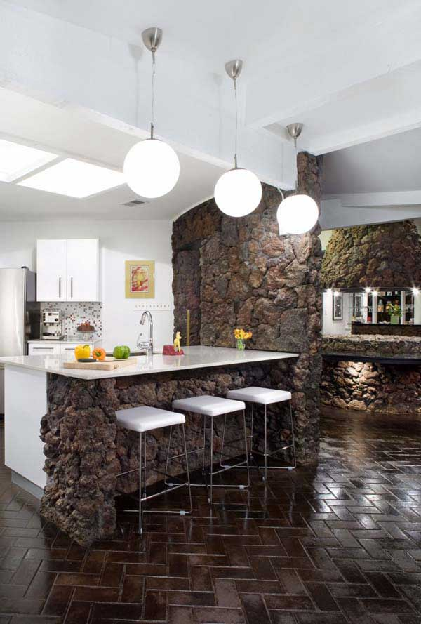 rustic stone kitchen woohome 2 - Rustic Modern Kitchen 2