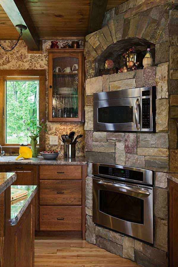 22 Stunning Stone Kitchen Ideas Bring Natural Feel Into ... on Rustic:fkvt0Ptafus= Farmhouse Kitchen Ideas  id=41394