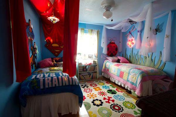 Shared Bedroom Boy Girl Woohome 7