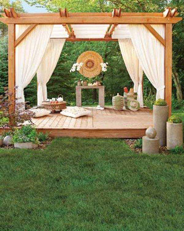 DIY-Backyard-Pergola-WooHome-3 - 24 Inspiring DIY Backyard Pergola Ideas To Enhance The Outdoor Life