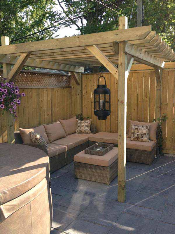 24 inspiring diy backyard pergola ideas to enhance the - Pergolas rusticas de madera ...