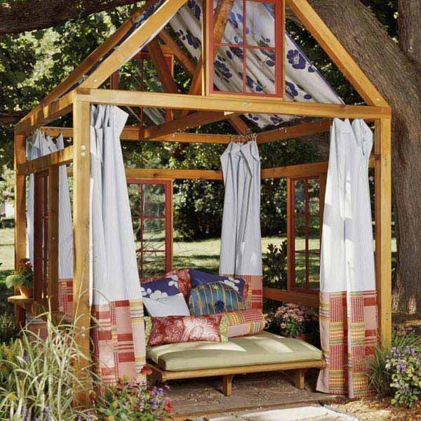 24 inspiring diy backyard pergola ideas to enhance the - Outdoor room ideas pinterest ...