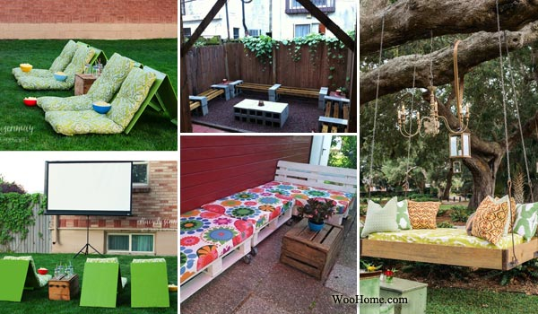 Backyard Items 26 awesome outside seating ideas you can make with recycled items