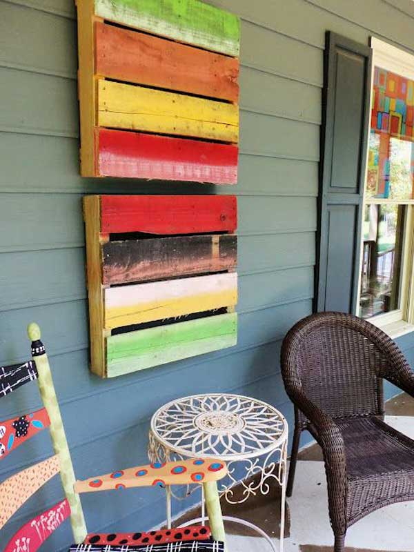 23 recycled pallet wall art ideas for enhancing your interior