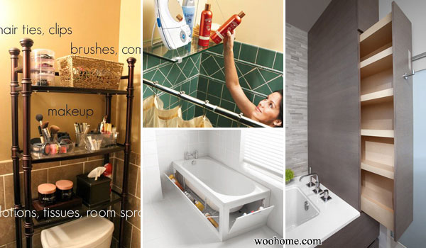 31 Amazingly DIY Small Bathroom Storage Hacks Help You Store More  sc 1 st  WooHome : storage in a small bathroom  - Aquiesqueretaro.Com