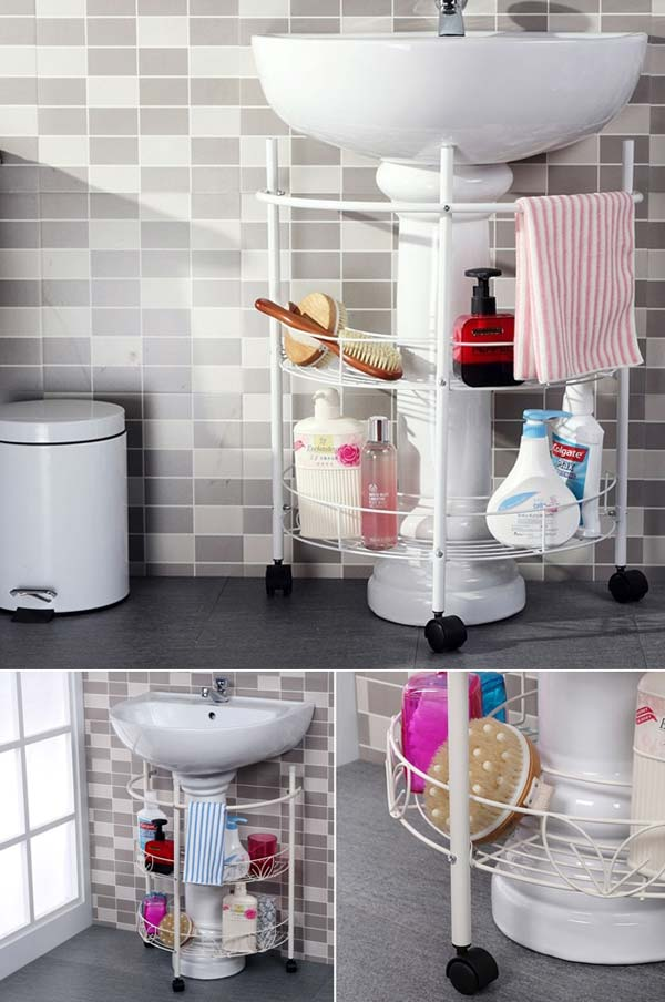 Storage Hacks In Bathroom WooHome 11