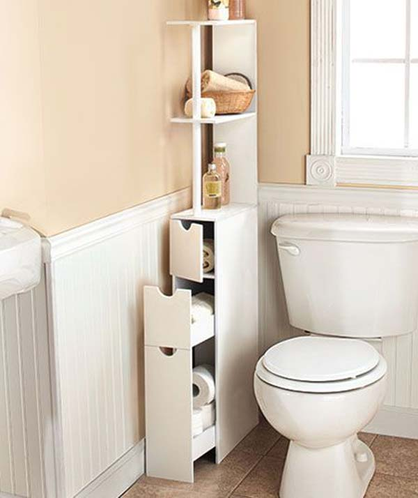 31 amazingly diy small bathroom storage hacks help you for Diy bathroom ideas for small spaces