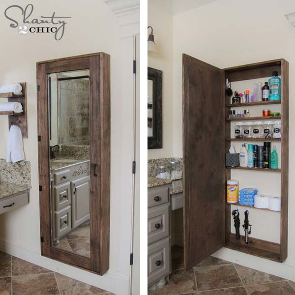 Storage Hacks In Bathroom WooHome 21