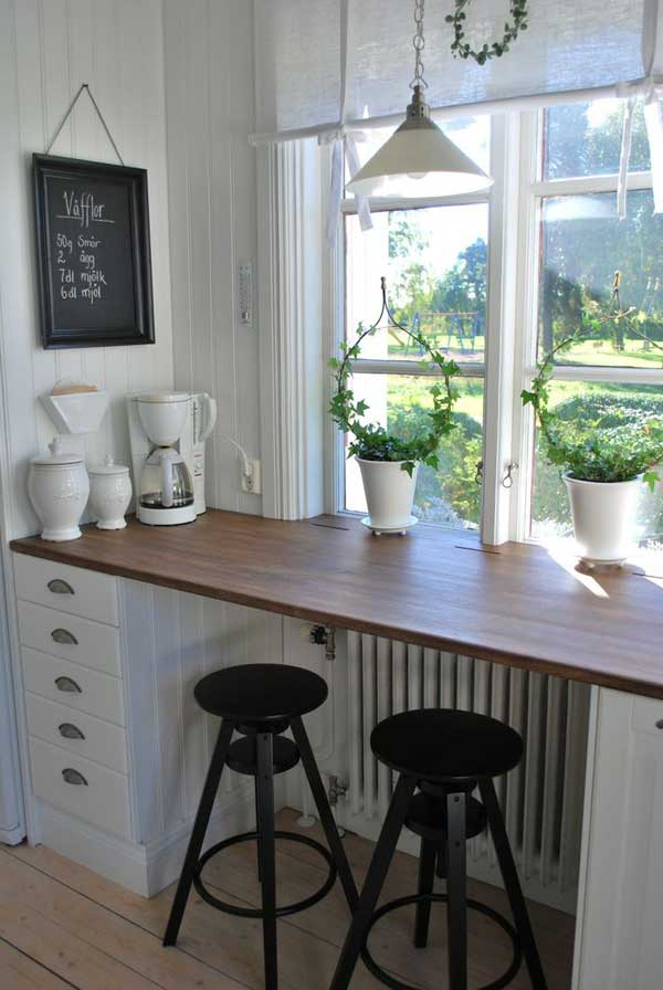 22 brilliant kitchen window bar designs you would love to