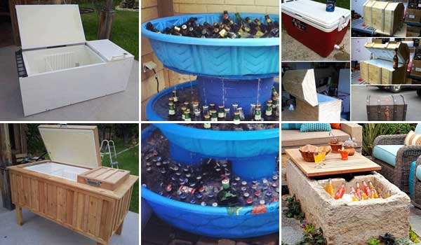 diy patio ideas on a budget 19 clever diy outdoor cooler ideas let you keep cool - Patio Ideas Diy