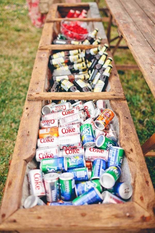 19 clever diy outdoor cooler ideas let you keep cool in for Diy wedding ideas for summer