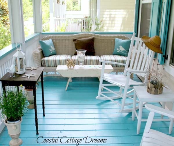 27 awesome beach style outdoor living ideas for your porch for Beach porch ideas