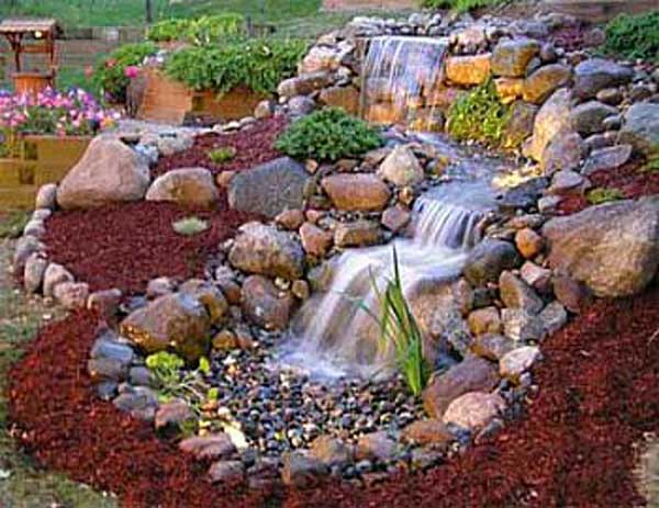 26 DIY Water Features Will Bring Tranquility and ... on Front Yard Waterfall Ideas id=42409