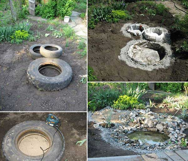 26 diy water features will bring tranquility and Home made water feature
